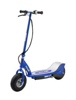 e300 electric 24 volt scooter blue white