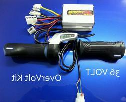 Razor E300 - upgraded throttle, controller, electrical kit-