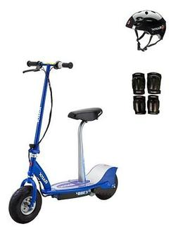 Razor E300S Seated Electric Scooter  with Helmet, Elbow & Kn