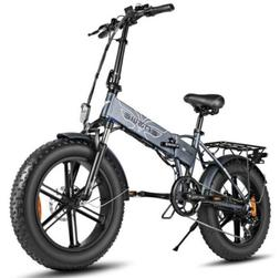 Electric Bike 48V 500W Foldable Fat Tire Off-Road High Speed