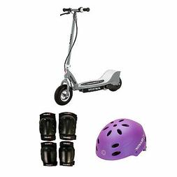 Razor Electric Kids Scooter, Silver + Youth Sport Helmet + E