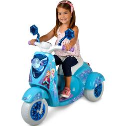 Electric Motorcycle For Kids 6v Disney Frozen 3 Wheel Scoote