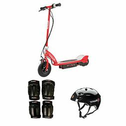 Razor Electric Power Kids Scooter, Red + Youth Sport Helmet