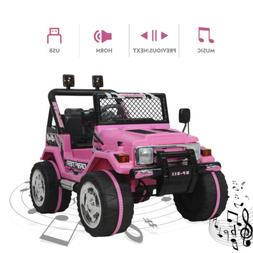 Electric Ride On Car Kids Driving Toys Baby Powered LED Ligh