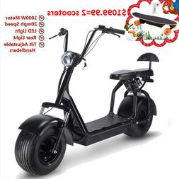 Electric Scooter SAY YEAH 1000W Fat Tires Adult Citycoco, 2