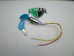 2-wire Ignition Key Switch Blue 2 Position Mobility Scooter