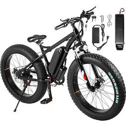 "Electric ScooterElectric Bike 26"" 7 Speed 350w Fat Tire Scoo"