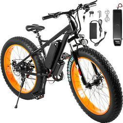 "Electric ScooterElectric Bike 26"" 7 Speed Fat Tire Scooters"