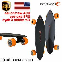 Maxfind Electric Skateboard Longboard Scooter 4 Wheels Wirel