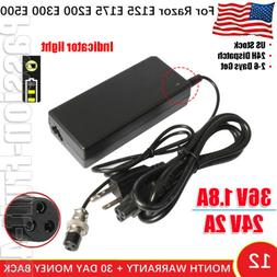 24V 36V Razor Electric Scooter Battery Charger E100 E300 MX3