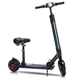 Goplus Foldable Electric Scooter Adjustable Kick Scooter Spe
