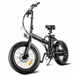 Folding Adults 500W Electric Bicycle 20'' Fat Tire LCD D