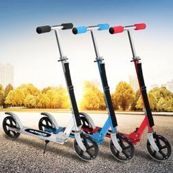 Folding Aluminum Kick Scooter 2 Wheels Foldable Adjustable H