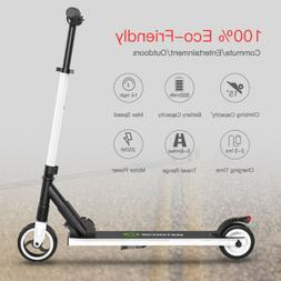Folding Electric Scooter 250W Aluminum Portable Black Teens