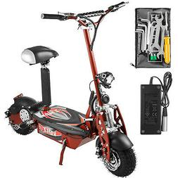 Folding Electric Scooter with Large Wheels Powerful 36v 1000