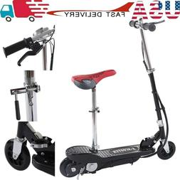 Folding Rechargeable Seated Electric Scooter Motorized Ride