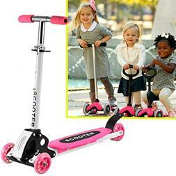 Dozenla New Foot Scooter Cute Kids Adjustable Folding Alloy