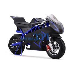 FREE SHIPPING BLUE 500 WATT KID ELECTRIC MINI BIKE MOTORCYCL