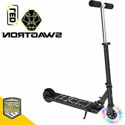 Swagtron Glide SK3 Foldable Electric Scooter W LED Wheels An