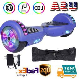 """Hoover Board NHT6.5"""" Chrome Hoverboard Electric Self Balanci"""