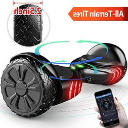 TOMOLOO Hoverboard with Bluetooth Speaker Smart Scooter Two-