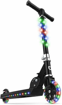 Jetson Jupiter Kick Scooter with LED Light-Up Deck, Stem, an