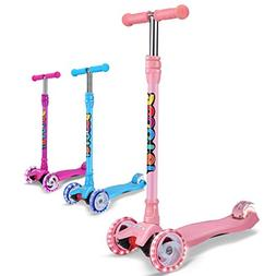 Outon Kick Scooter For Kids 3 Wheel Scooter Lean To Steer 4
