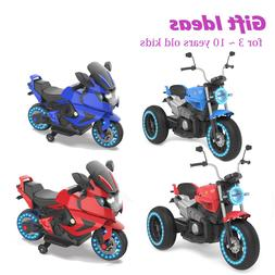 HOVERHEART Kids 2 or 3 Wheels Electric Ride on Motorcycle 6V
