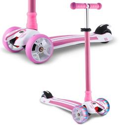 Kids 3 Wheels Kick Scooter for Age 3-8 Adjustable Deluxe Sco
