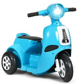 Kids Electric Scooter 6V Ride-on Motorcycle 3 Wheel Recharge