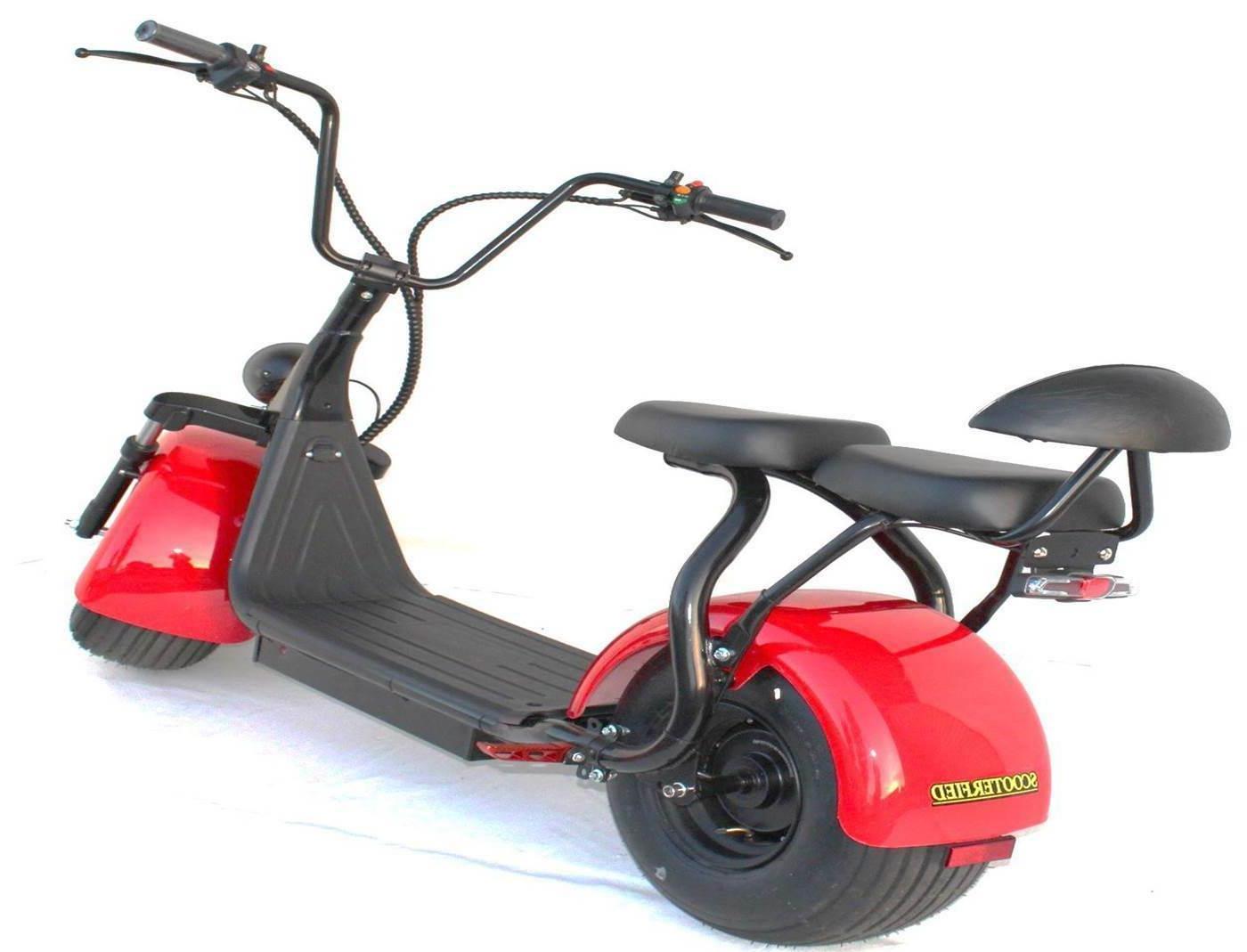 2 2000w Electric Scooter Scooterfied.com Chopper Bike watt