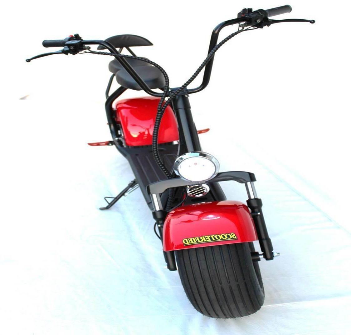 2 2000w Scooter 18.5 Fat Scooterfied.com Chopper Bike