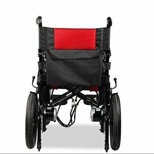 New Remote Red Foldable Wheelchairs