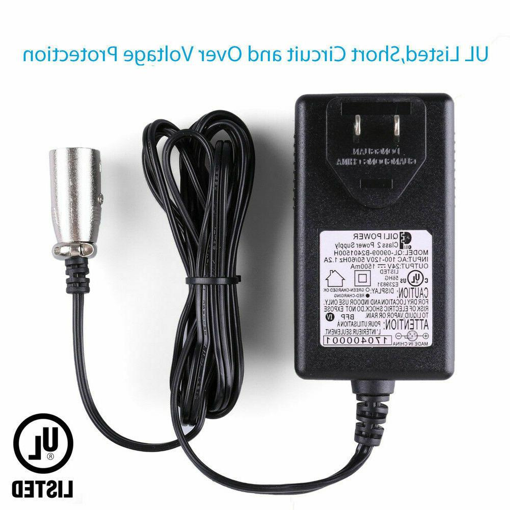 24V 1.5A Battery Charger For Scooter eZip