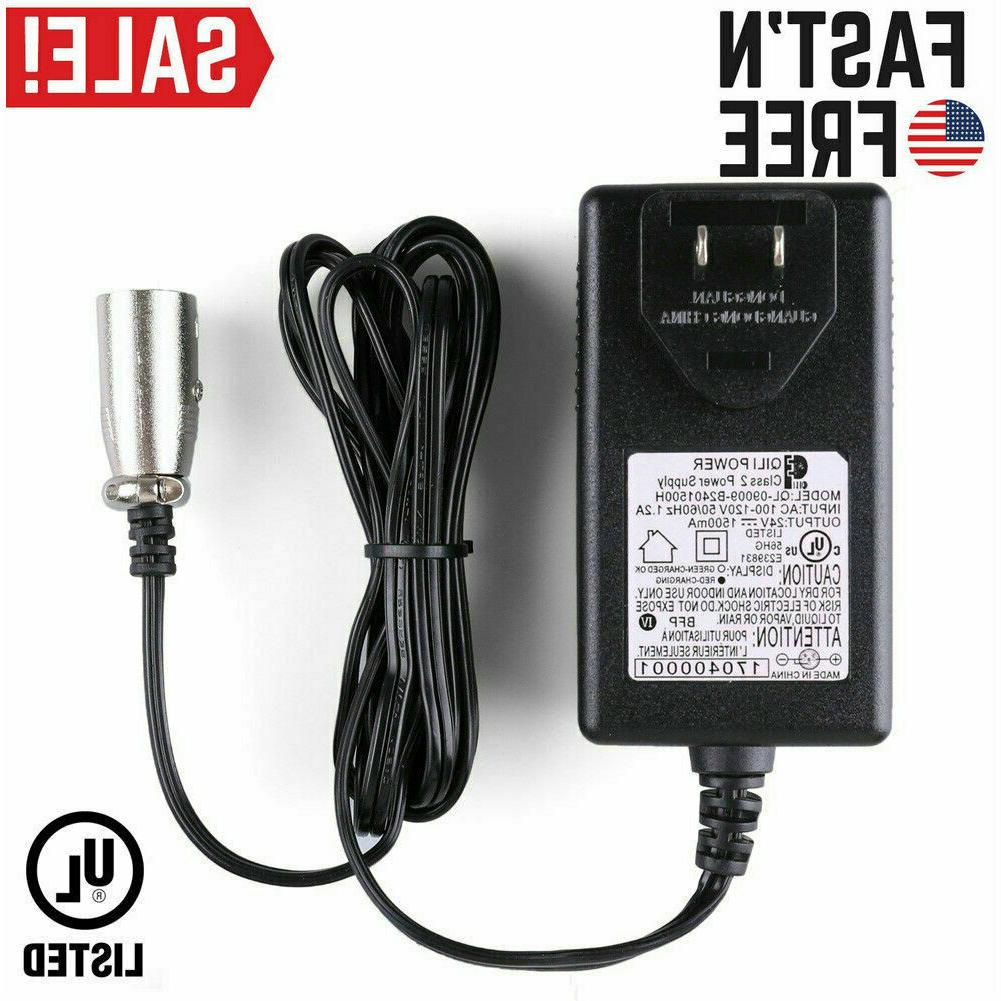 24v 1 5a electric bike battery charger