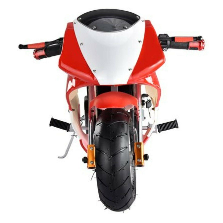 24V Mini Bike Ride Electric Motorcycle Black Red Bike
