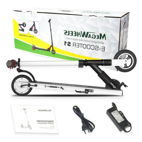 250W Electric Scooter Adult Stand T-Style Sport White Outdoor