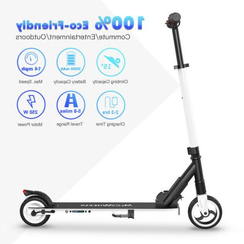 waterproof white folding adult kick electric scooter