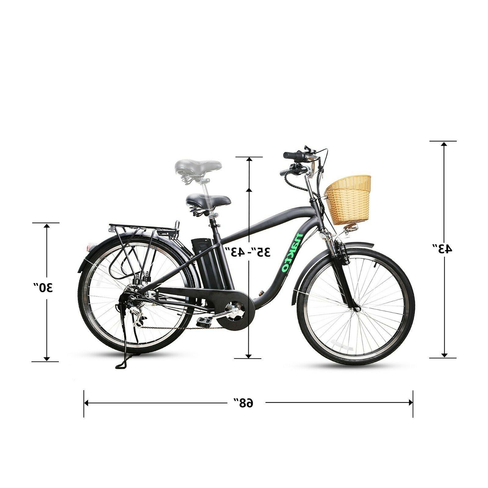 "26""City Basket Adult Electric Bike Removable Battery EBike"