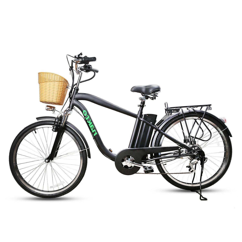 "26""City Electric Basket Adult Bike Removable Battery"