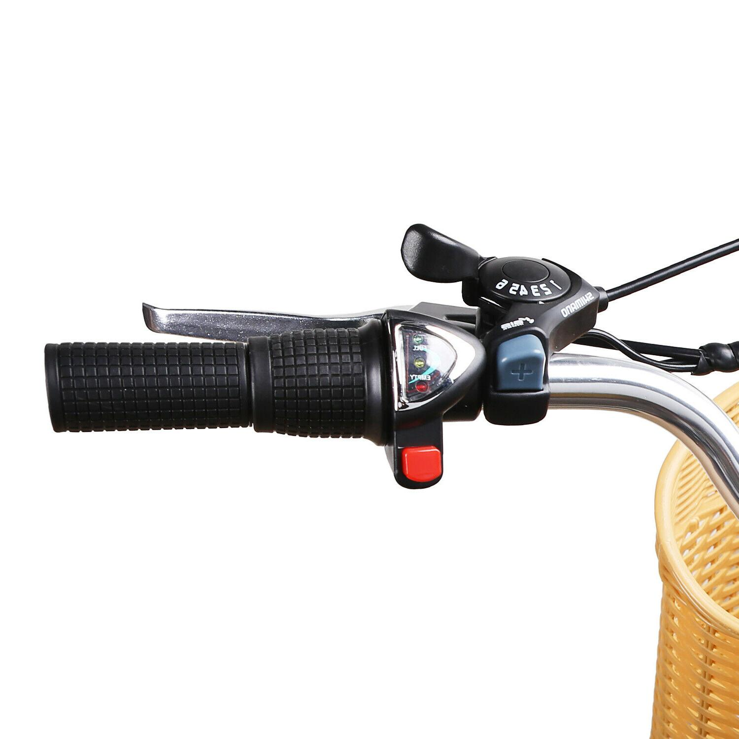 """26""""City Electric Basket Removable EBike"""