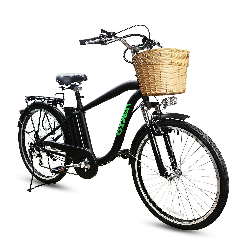 "26""City Basket Adult Bike Removable Battery"