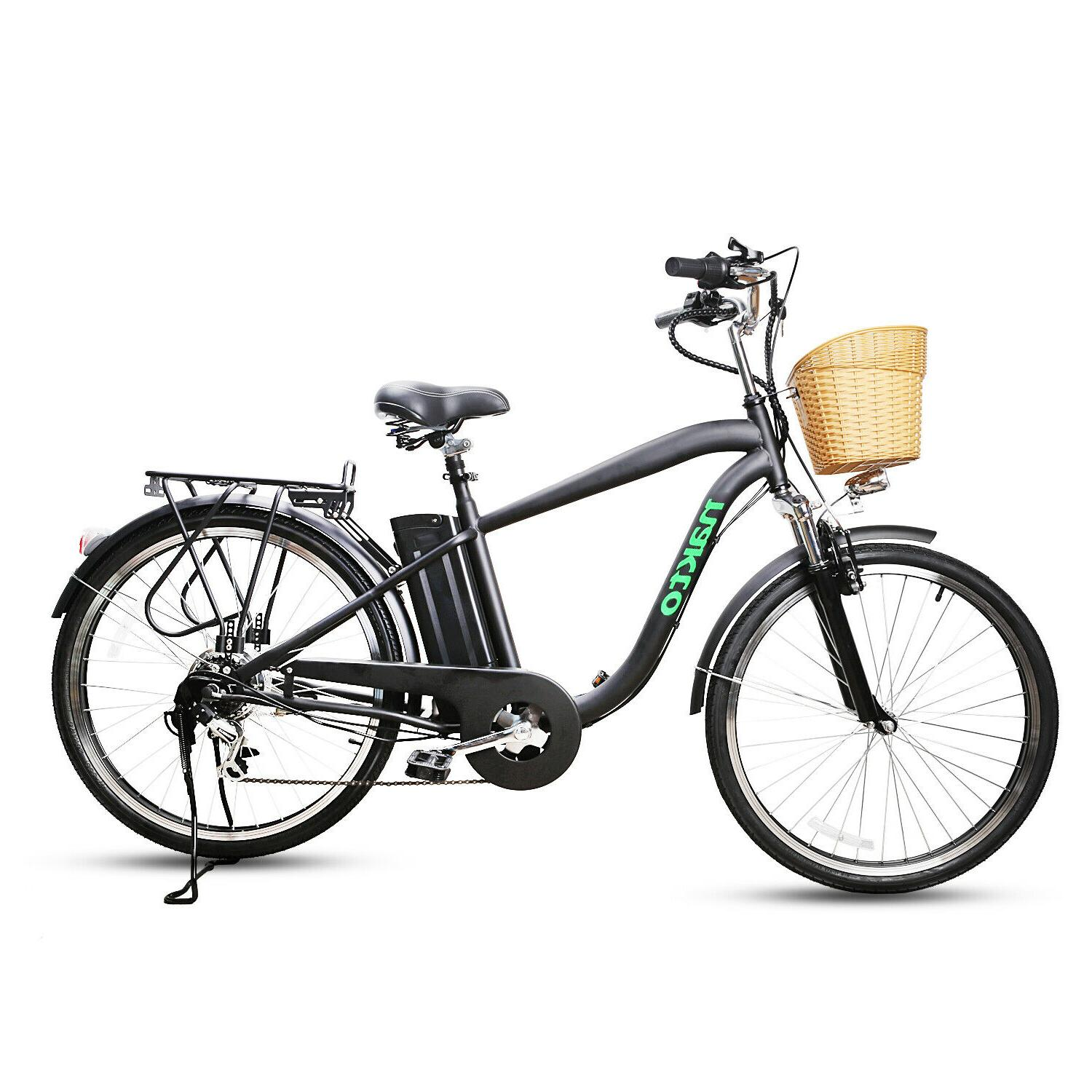 26city electric bicycle with basket adult electric