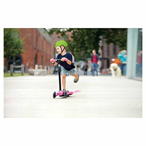 Jetson Mist Scooter with Misters, Lean-to-Steer Light-Up Wheels,