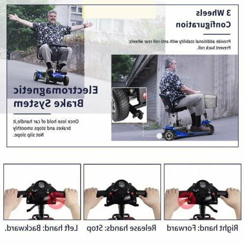 Powered Scooter Wheel Travel Blue