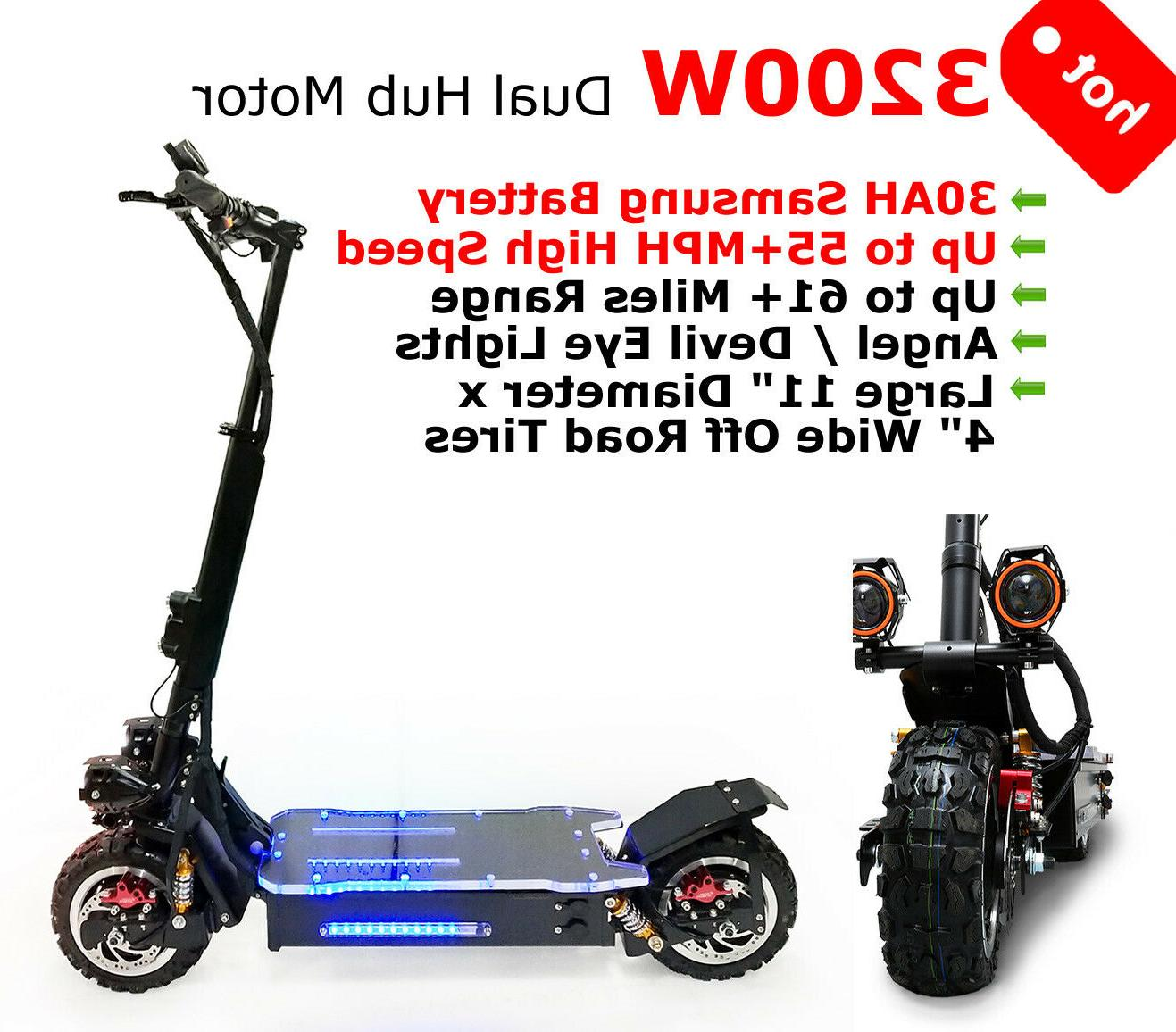 3200w off road electric kick stunt scooter