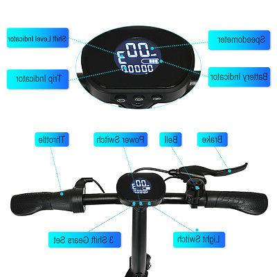 350W Adult Scooter 15.5MPH Pedal-free LED Display