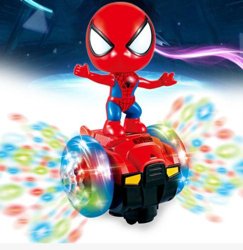 360° Rotating Spiderman Scooter Electric Kids Toys