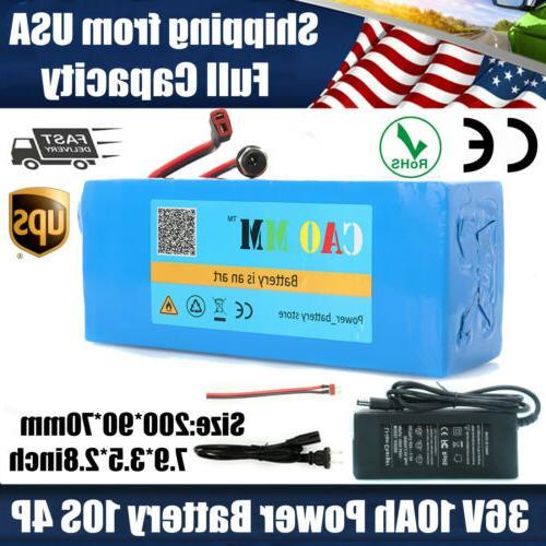 36v 10ah lithium battery pack 750w ebike