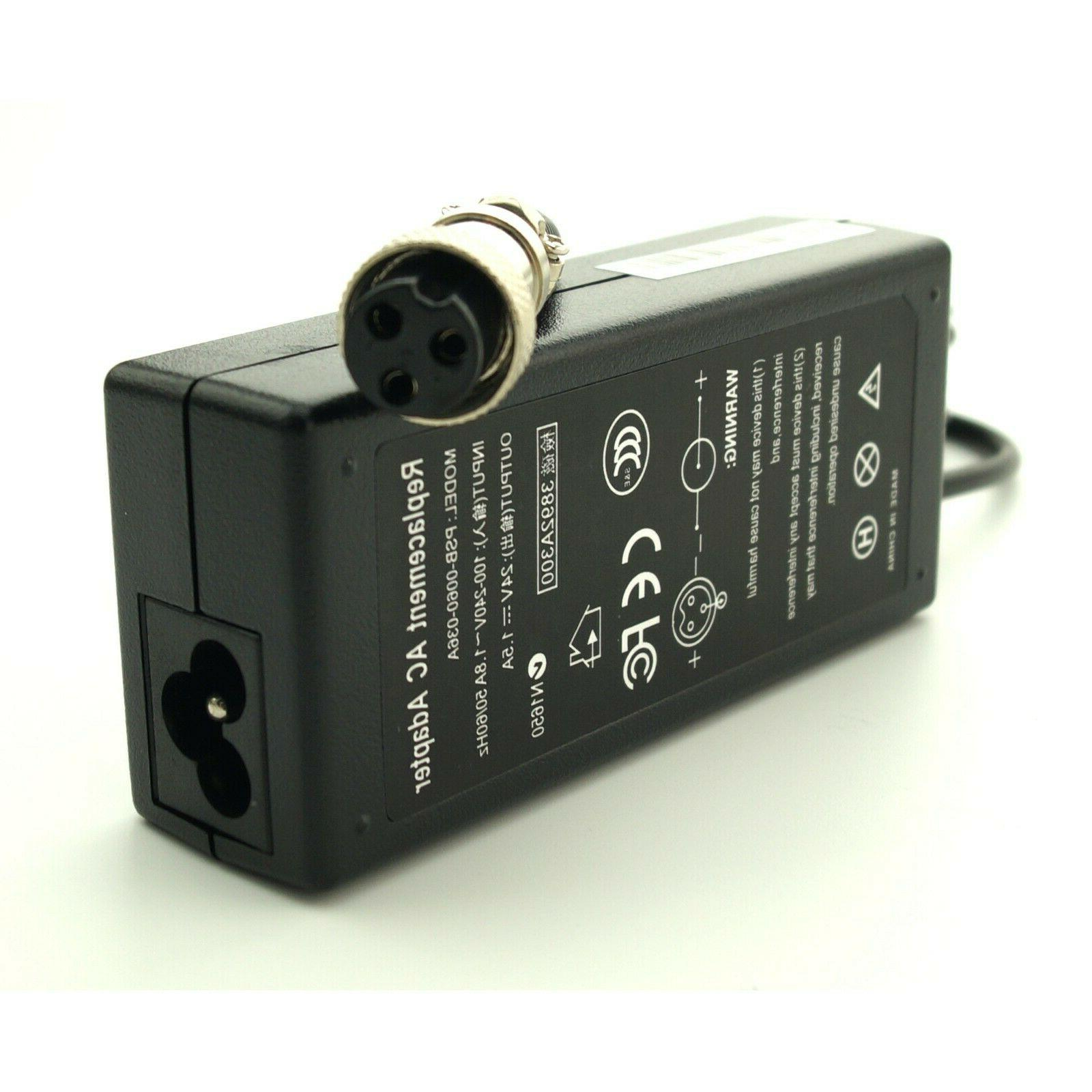36W 1.5A Battery Charger Razor E175 E100 PowerCord